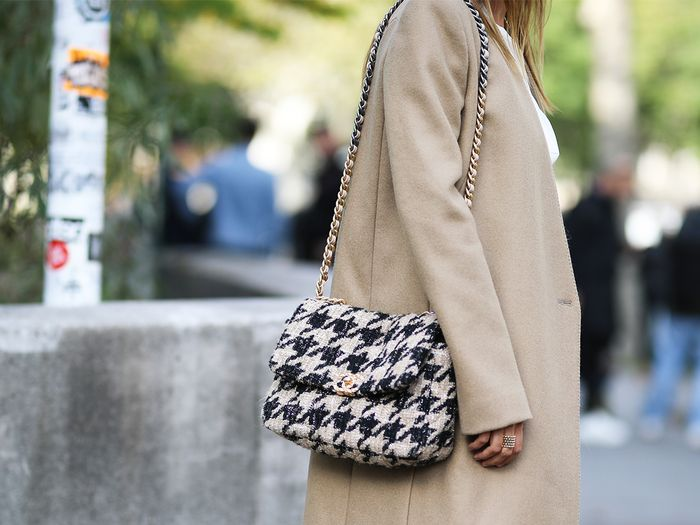 Chanel Houndstooth Bag Street Style