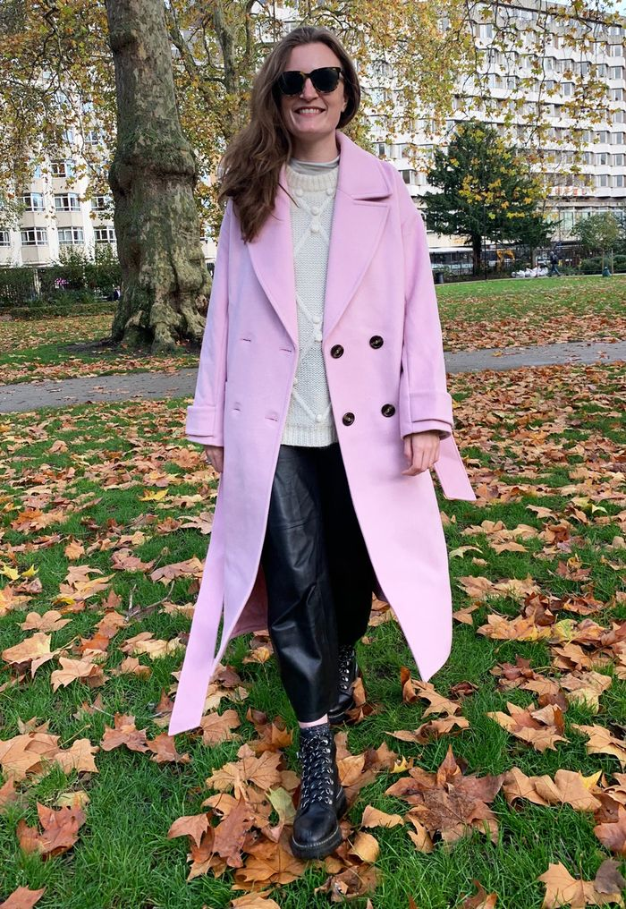 Jeans boots and coats outfit ideas: Emma Spedding