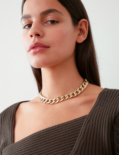 Pixie Market Gold Chain Choker Necklace