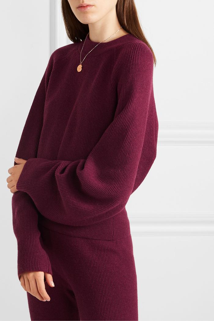 Nanushka Arden Ribbed-Knit Sweater