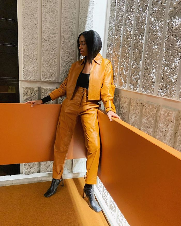 NYC winter fashion trends: colorful leather