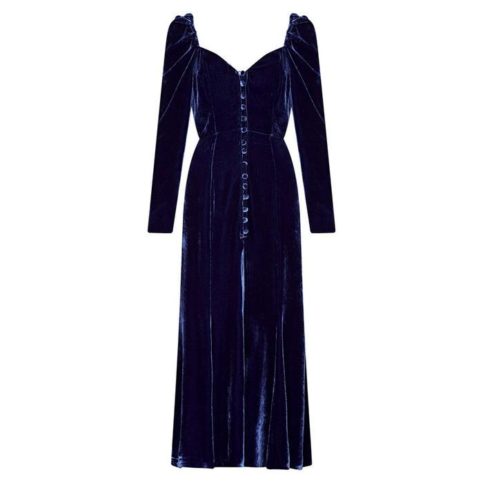 Ghost Sydney Silk Velvet Dress