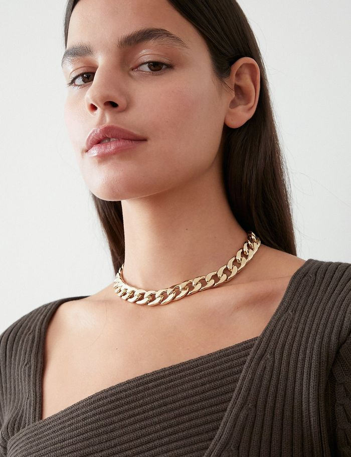 Pixie Market Gold Chain Choker Necklace