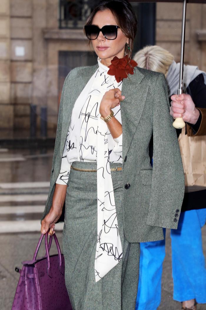 Victoria Beckham birkin bag: purple birkin bag