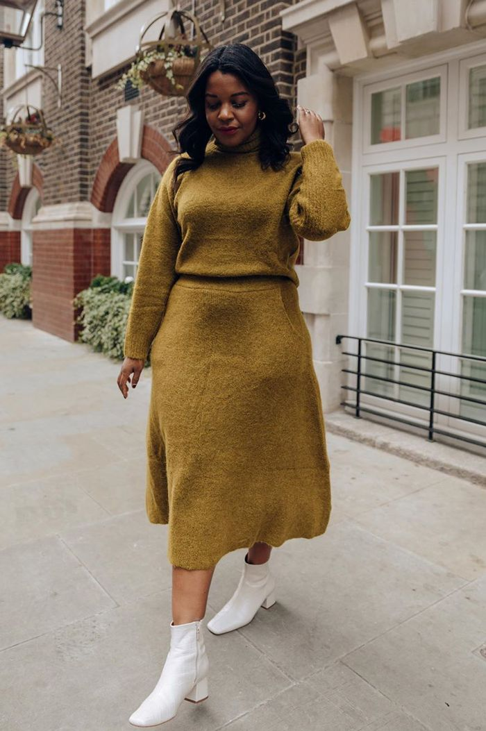 Throw on outfit ideas: knitted co-ord