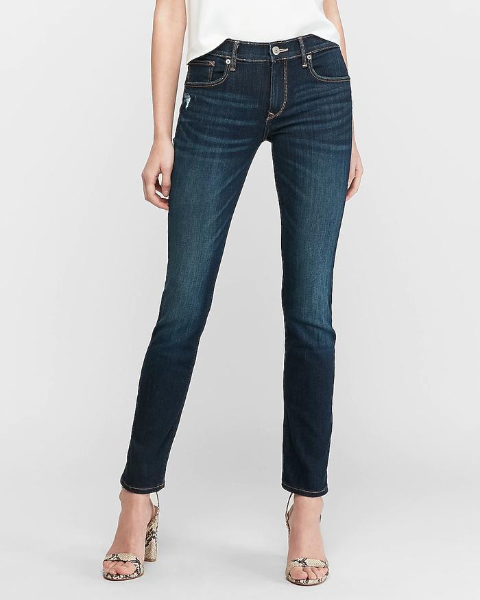 dayna scissor cut hem skinny jean womens