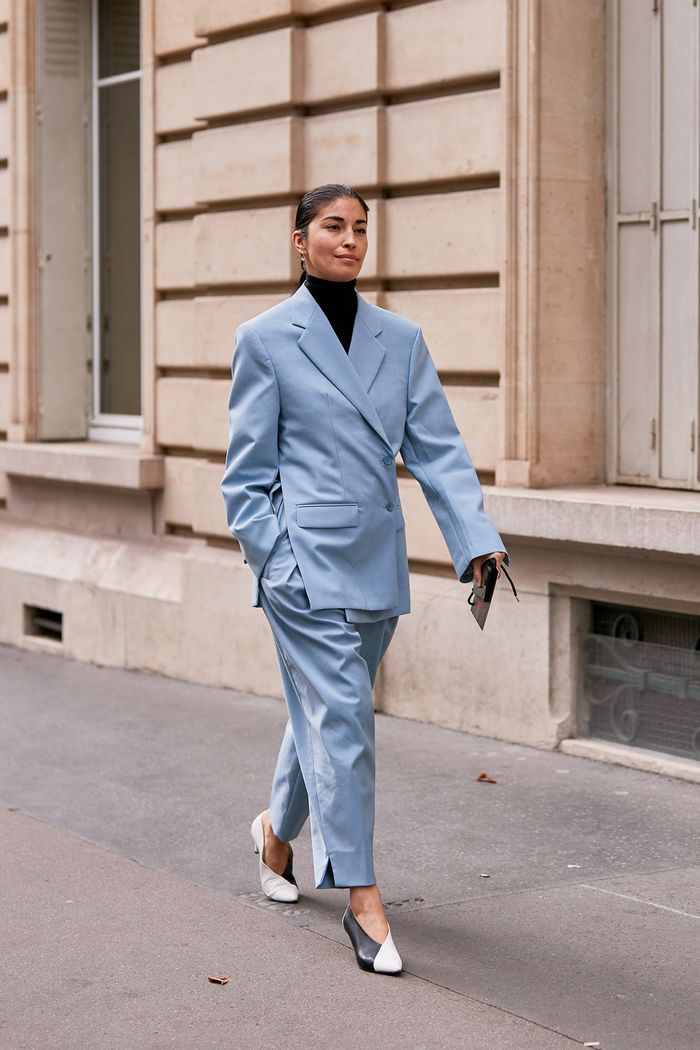street style trends 2020: slouchy suiting