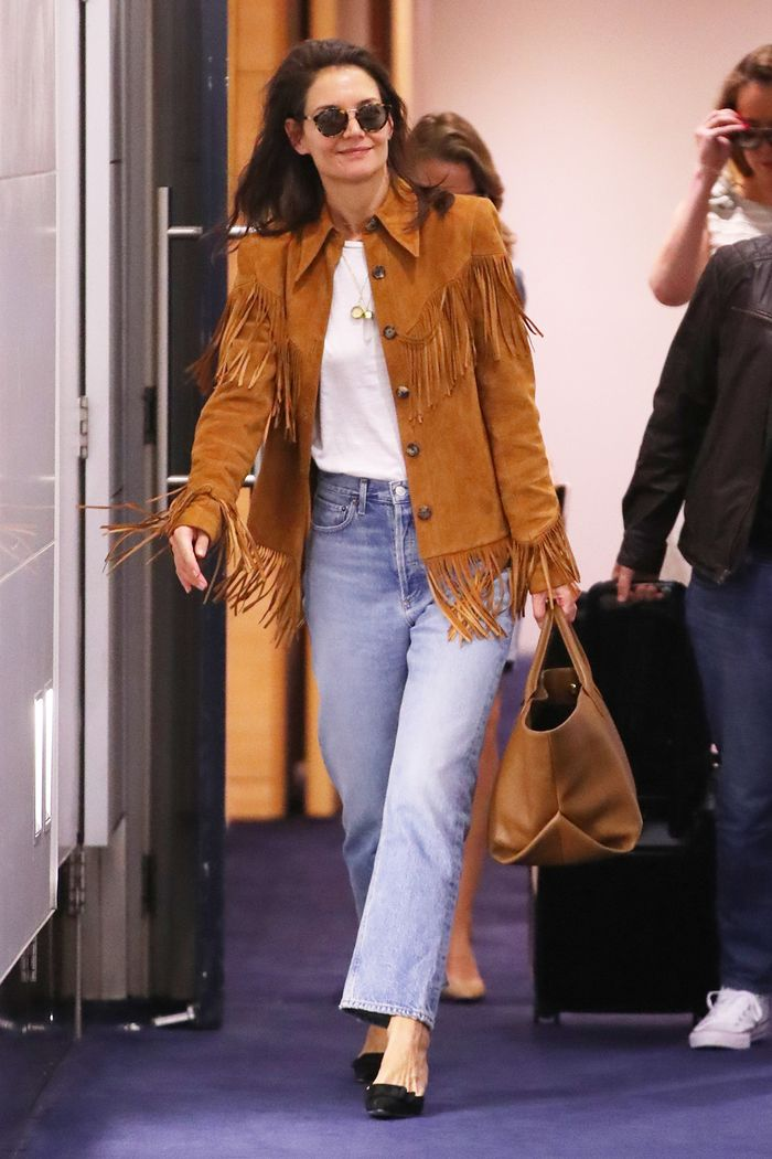 Katie Holmes best jeans for the airport