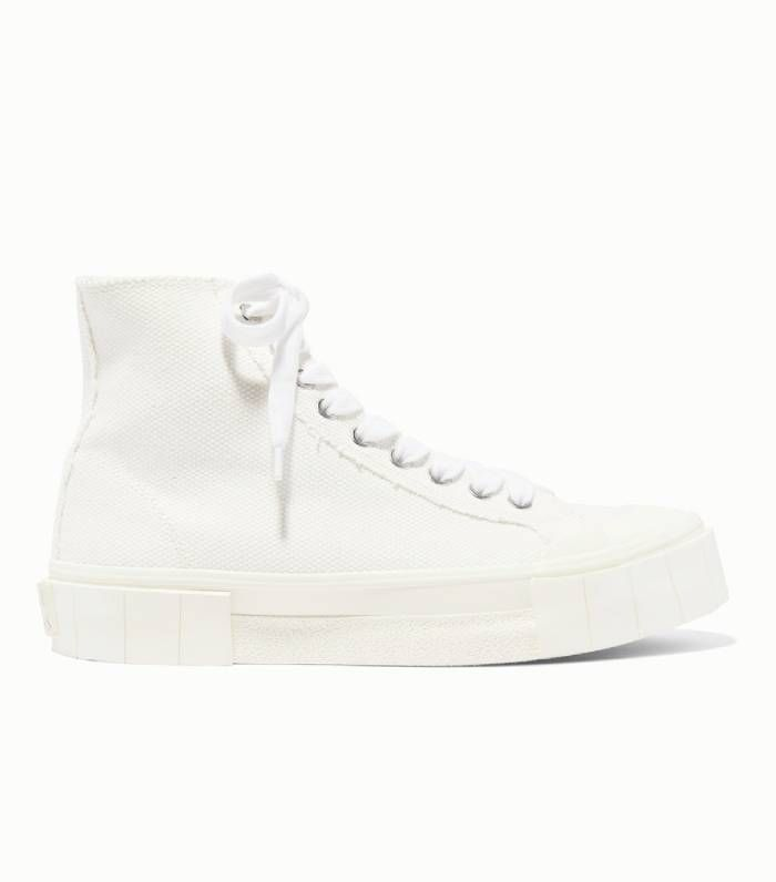 Good News Organic Cotton-Canvas High-Top Sneakers