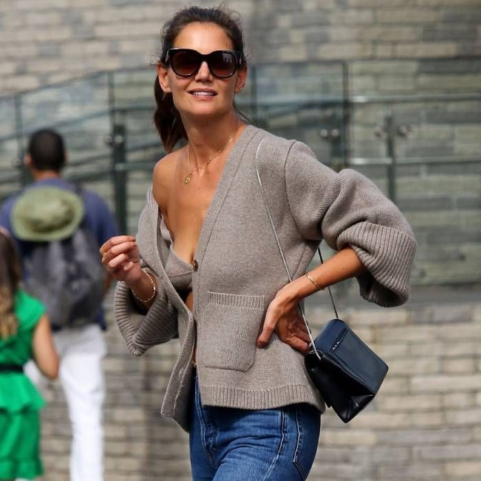 The Whole Office Just Bought This Zara Cardigan Set Inspired by Katie Holmes