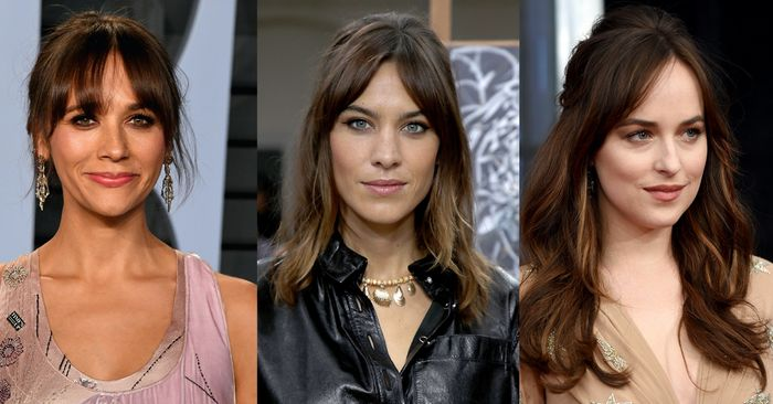 The Best Bangs for Every Face Shape Celebrity Photos