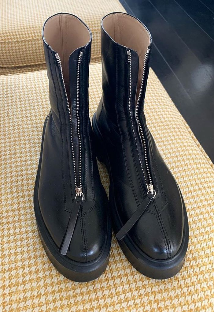 The Row zip up boots: