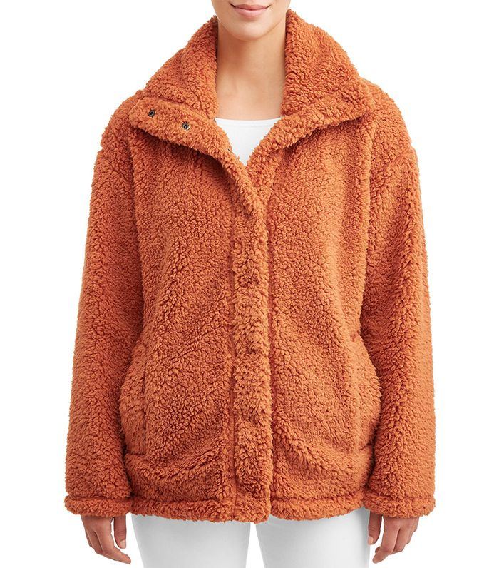 Climate Concepts Collared Teddy Jacket