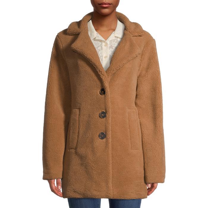 Jason Maxewell Oversized Faux Sherpa Coat