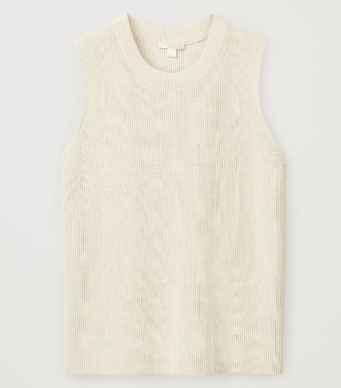 COS Knitted Cotton-Mix Vest Top