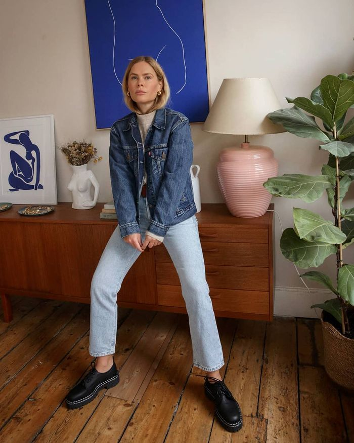 New Winter Outfit Ideas: @wethepeoplestyle wears double denim