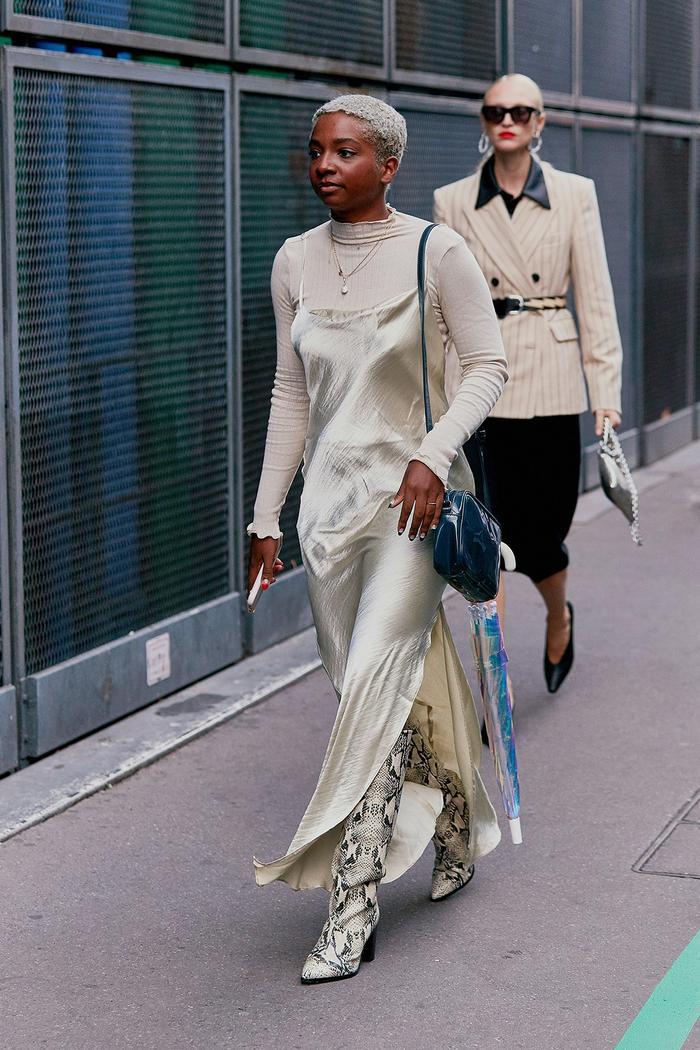 silky dress trend
