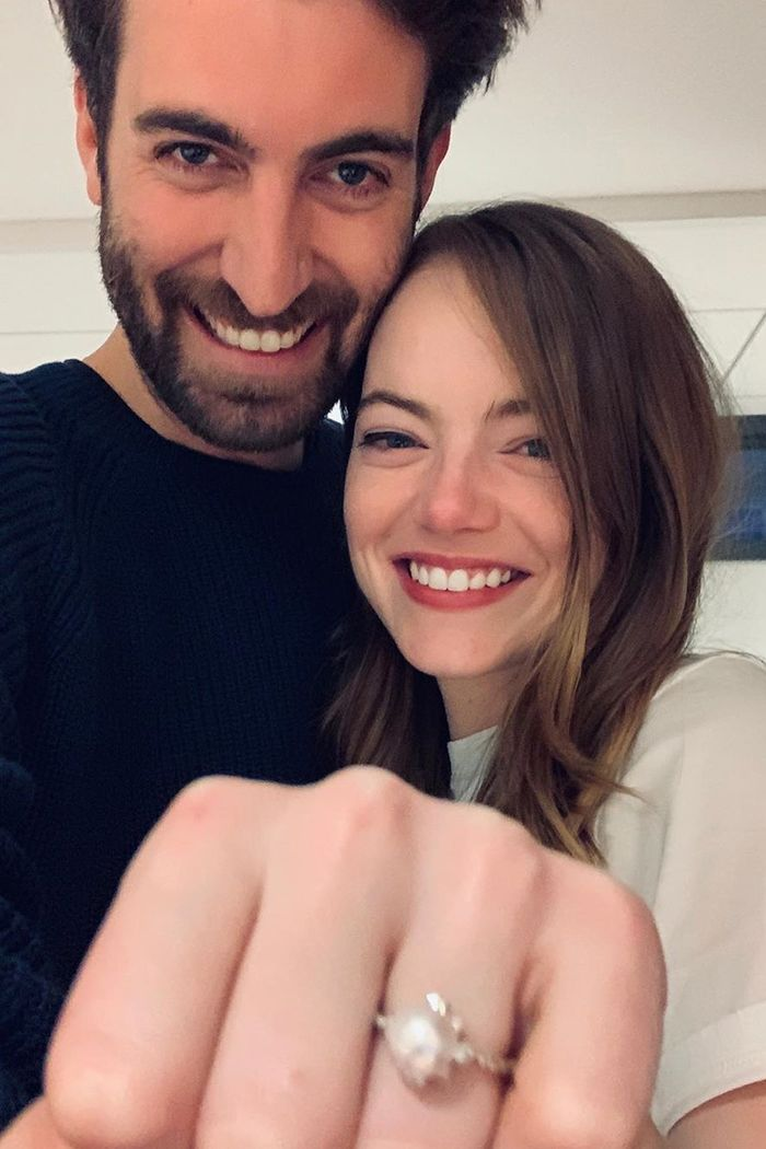 Emma Stone Just Got Engaged With One of 2020's Biggest Ring Trends