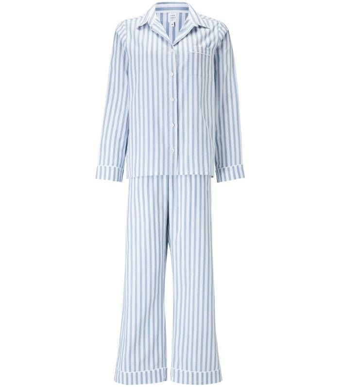 John Lewis & Partners Luna Stripe Cotton Pyjama Set