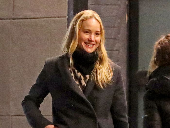 Jennifer Lawrence Wore the Winter Trend That's Excellent With Black Jeans