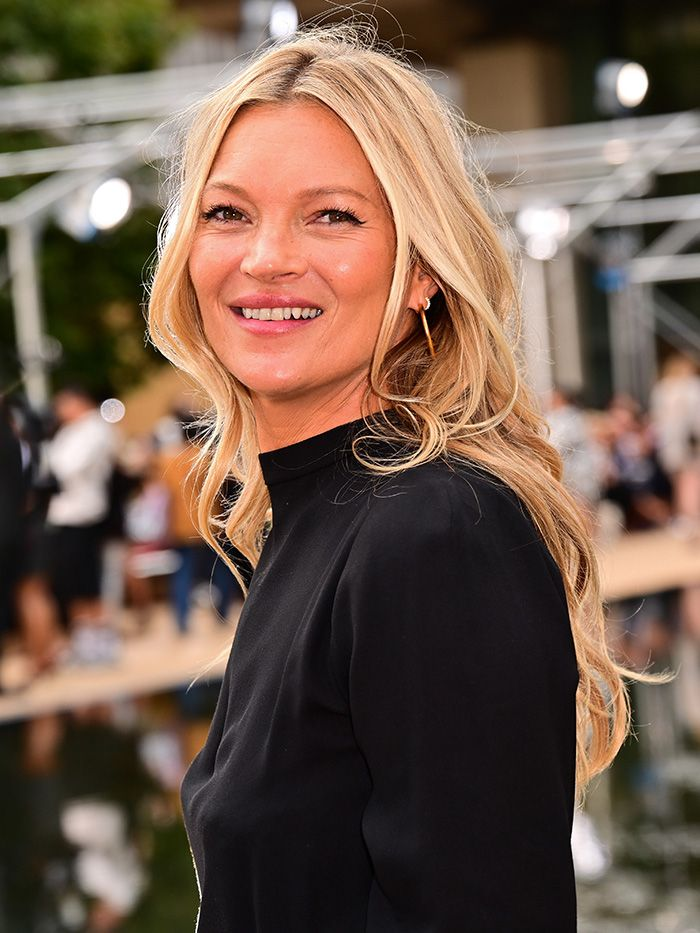 young ldn celebrity skincare: Kate Moss at NYFW19