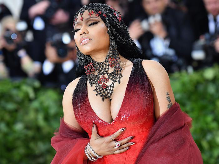 Nicki Minaj attends the 2018 Met Gala.