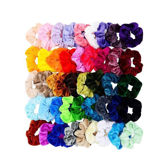 Chloven 45-Piece Velvet Scrunchies