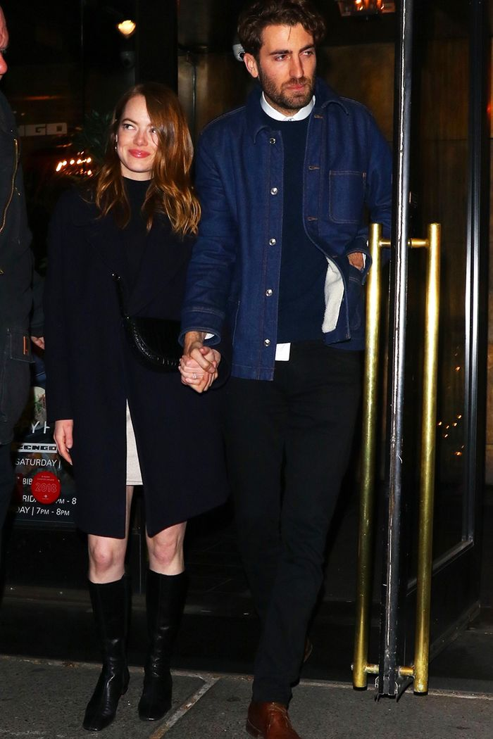 Emma Stone Just Showed Off Her Engagement Ring and New It Boots in NYC