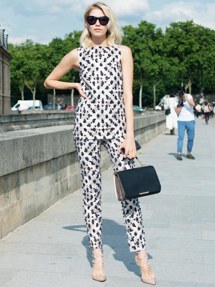 Valentino Rockstud Heels: Street Style