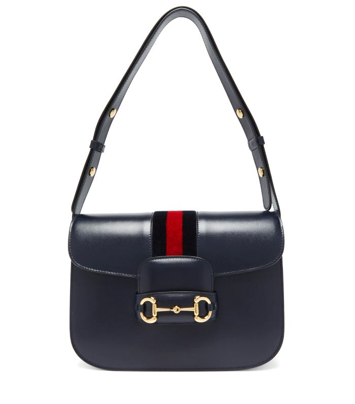 Gucci 1955 Horsebit Saddle Leather Shoulder Bag