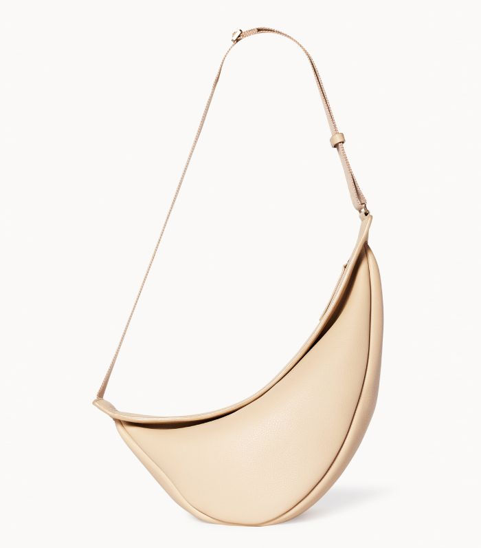 The Row Large Slouchy Banana Bag in Leather