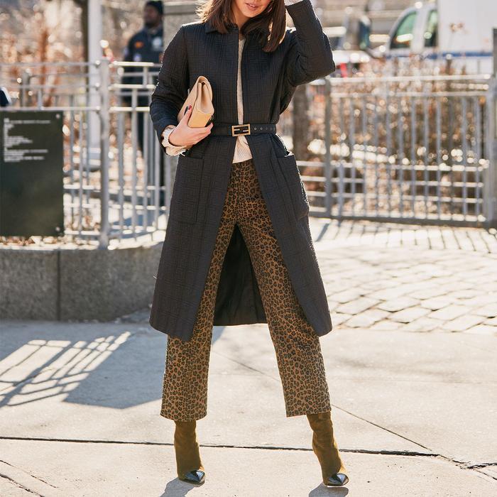 New York Street Style Leopard Pants