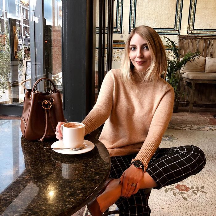What to Wear When It's Freezing: Who What Wear contributor Maxine wears a roll neck knit