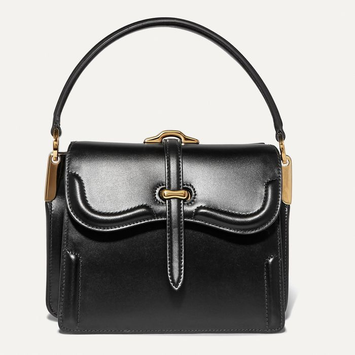 Prada Belle Small Leather Shoulder Bag in Black
