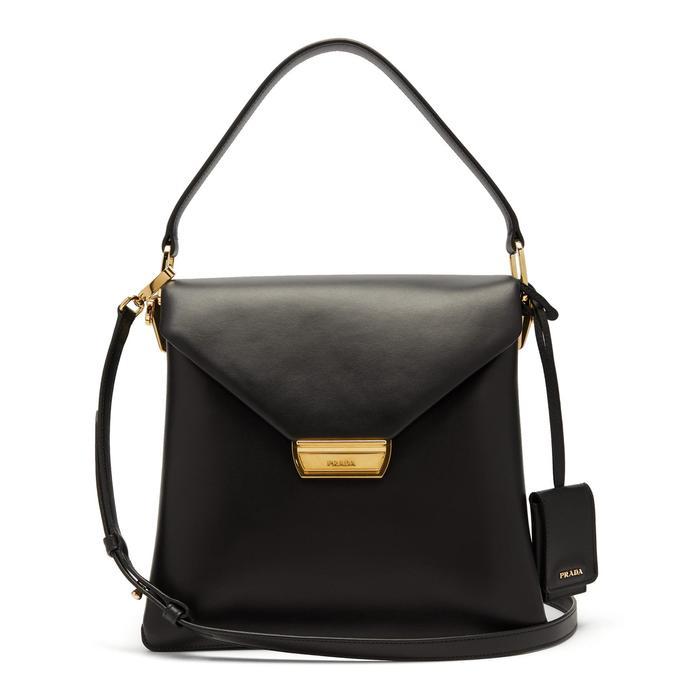 Prada Ingrid Medium Leather Bag in Black