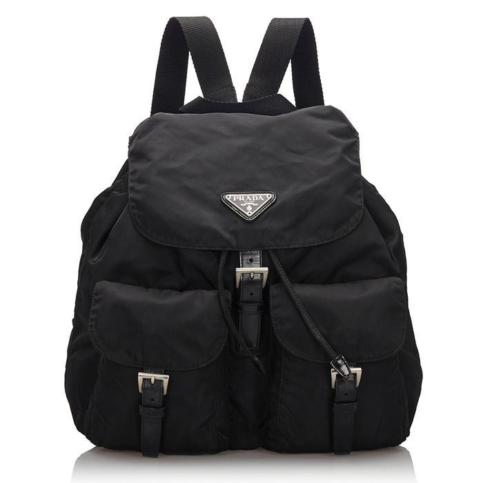 Prada Pre-Loved Nylon Drawstring Backpack