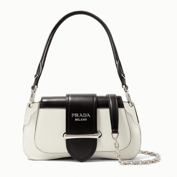 Prada Sidonie Mini Leather Bag in Monochrome