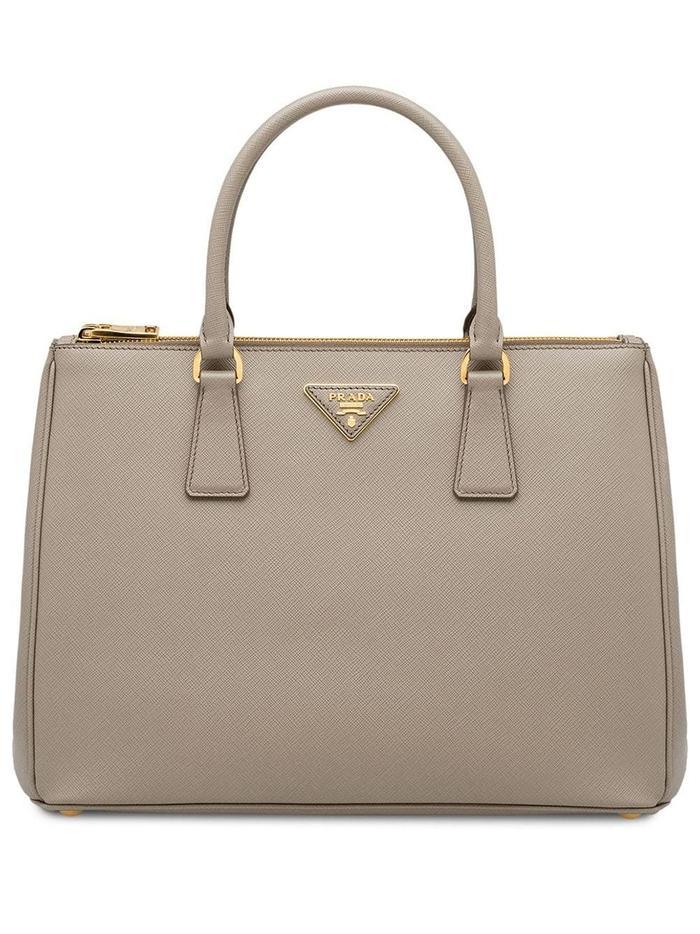 Prada Leather Galleria Bag in Beige