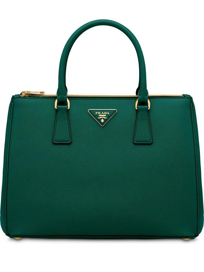 Prada Leather Galleria Bag in Green