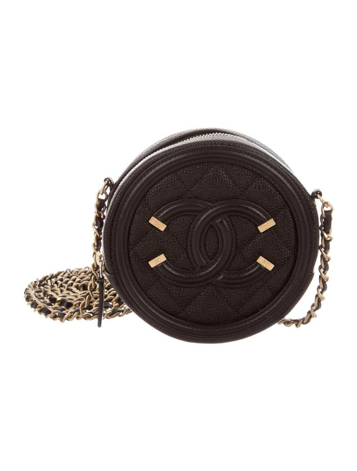 Chanel 2018 Quilted Round Filigree Crossbody Bag