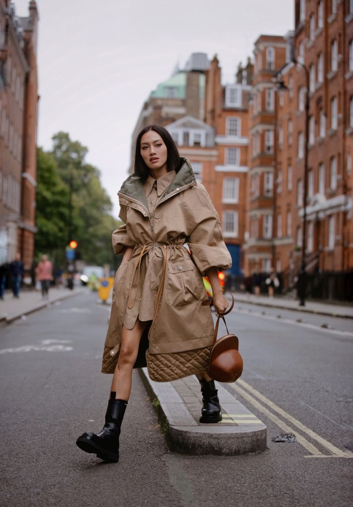 MyTheresa's Fashion Buying Director on the 2020 Trends That Really Matter: Tiffany Hsu wears a padded puffer coat