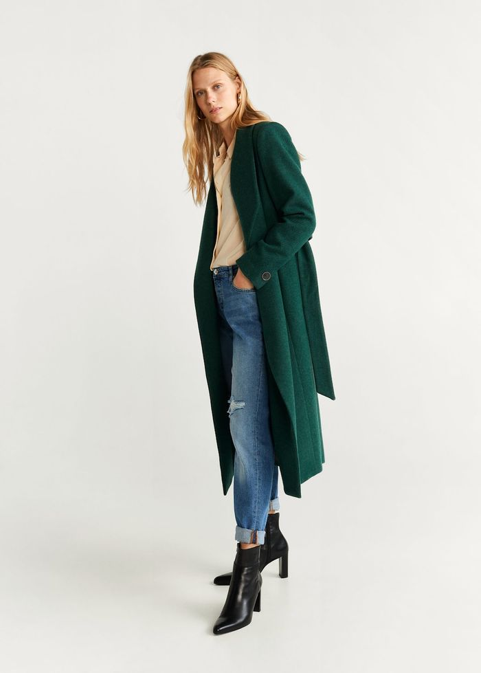 Structured Wool Coat Green