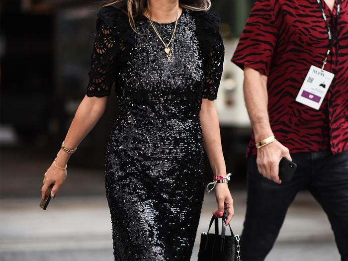 Sequin Dress Street Style