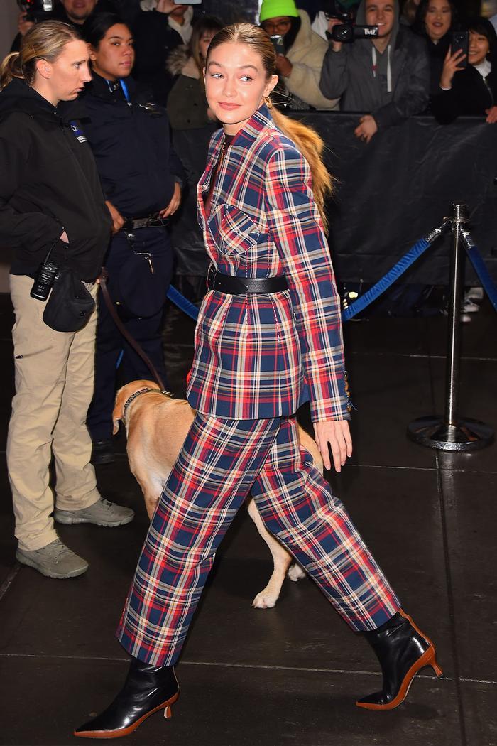Gigi Hadid 2020 ankle boot trend