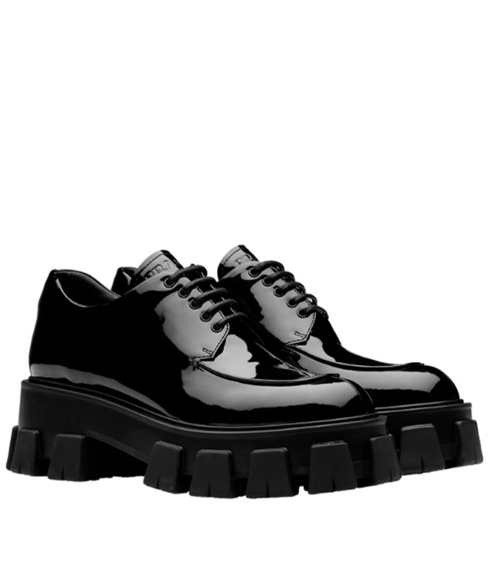 Prada Monolith Patent Leather Derby Shoes