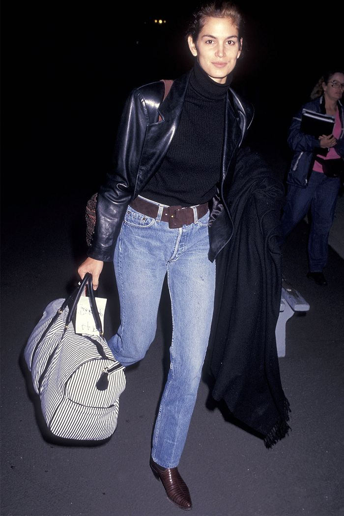 '90s celebrity winter outfits: Cindy Crawford
