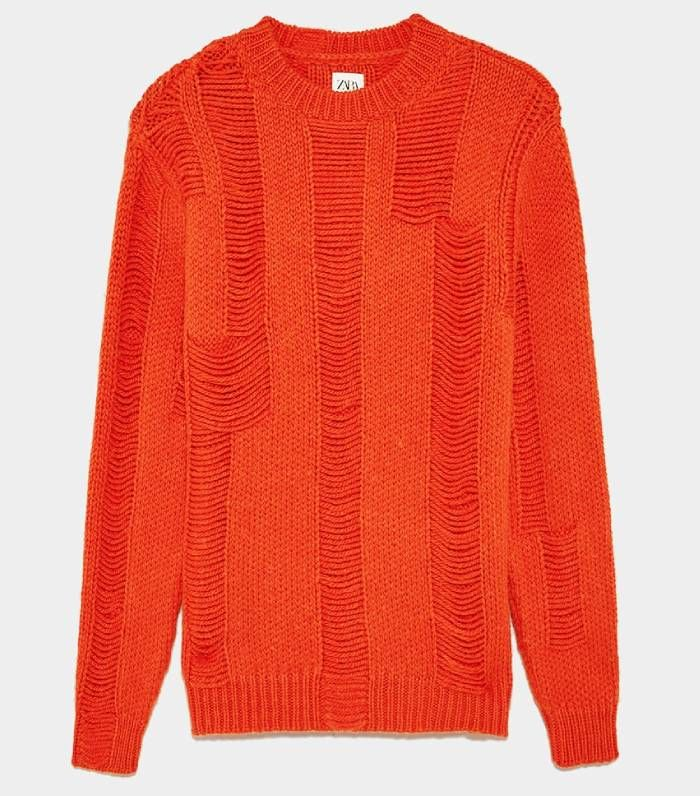 Zara Combined Textured Sweater