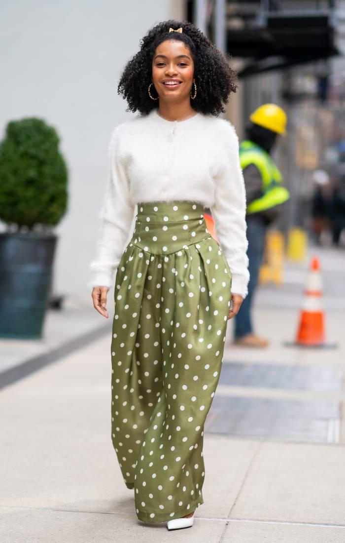 celebrity fashion inspiration 2020: yara shahidi