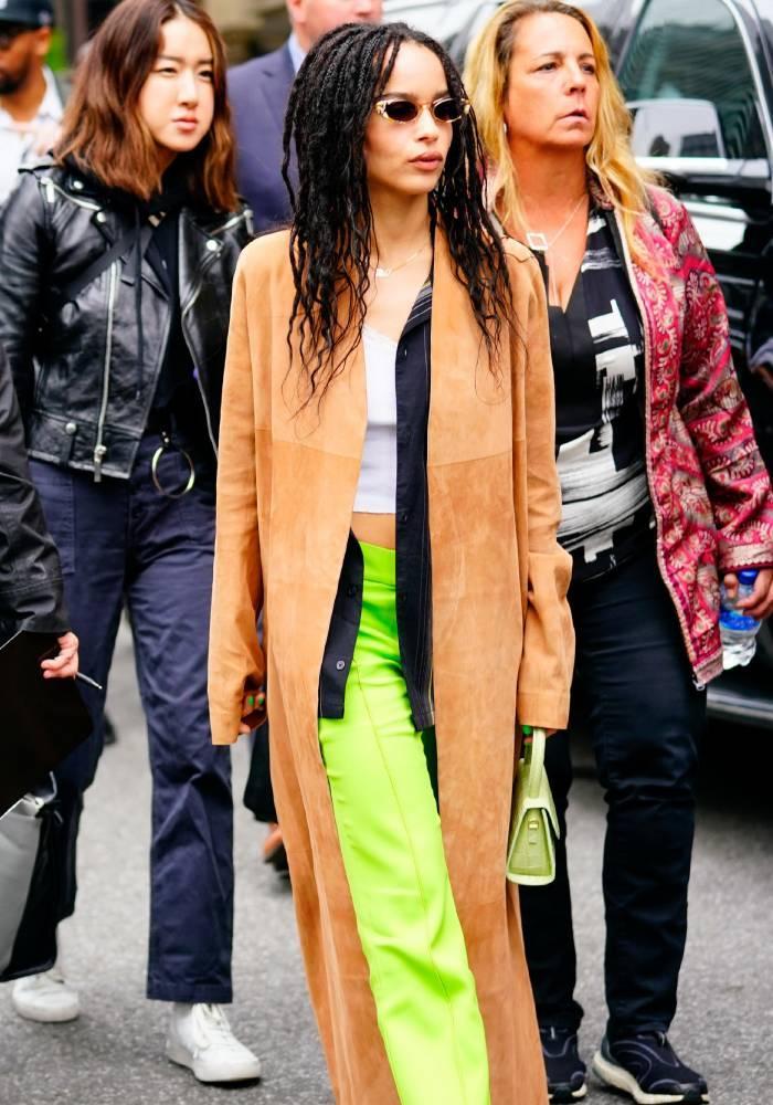 celebrity fashion inspiration 2020: zoe kravitz