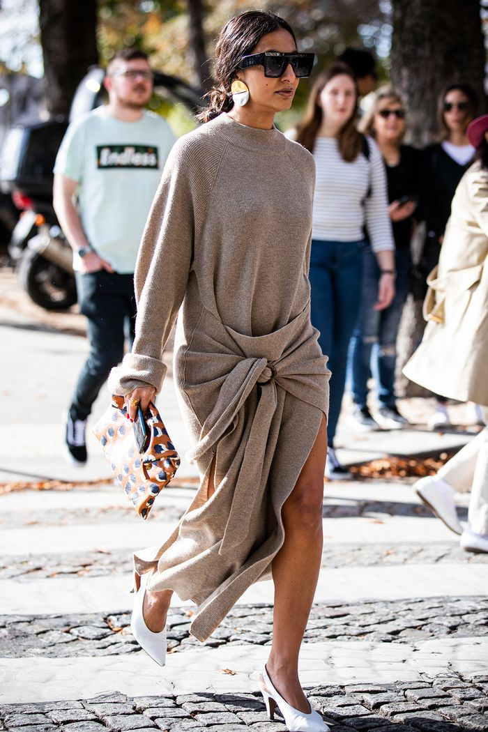 Knit Dress Street Style